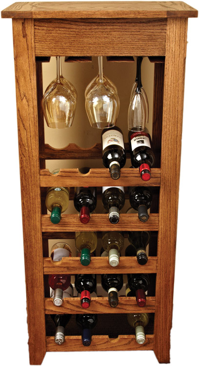 wooden wine rack design