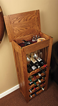 easy wine rack design plans