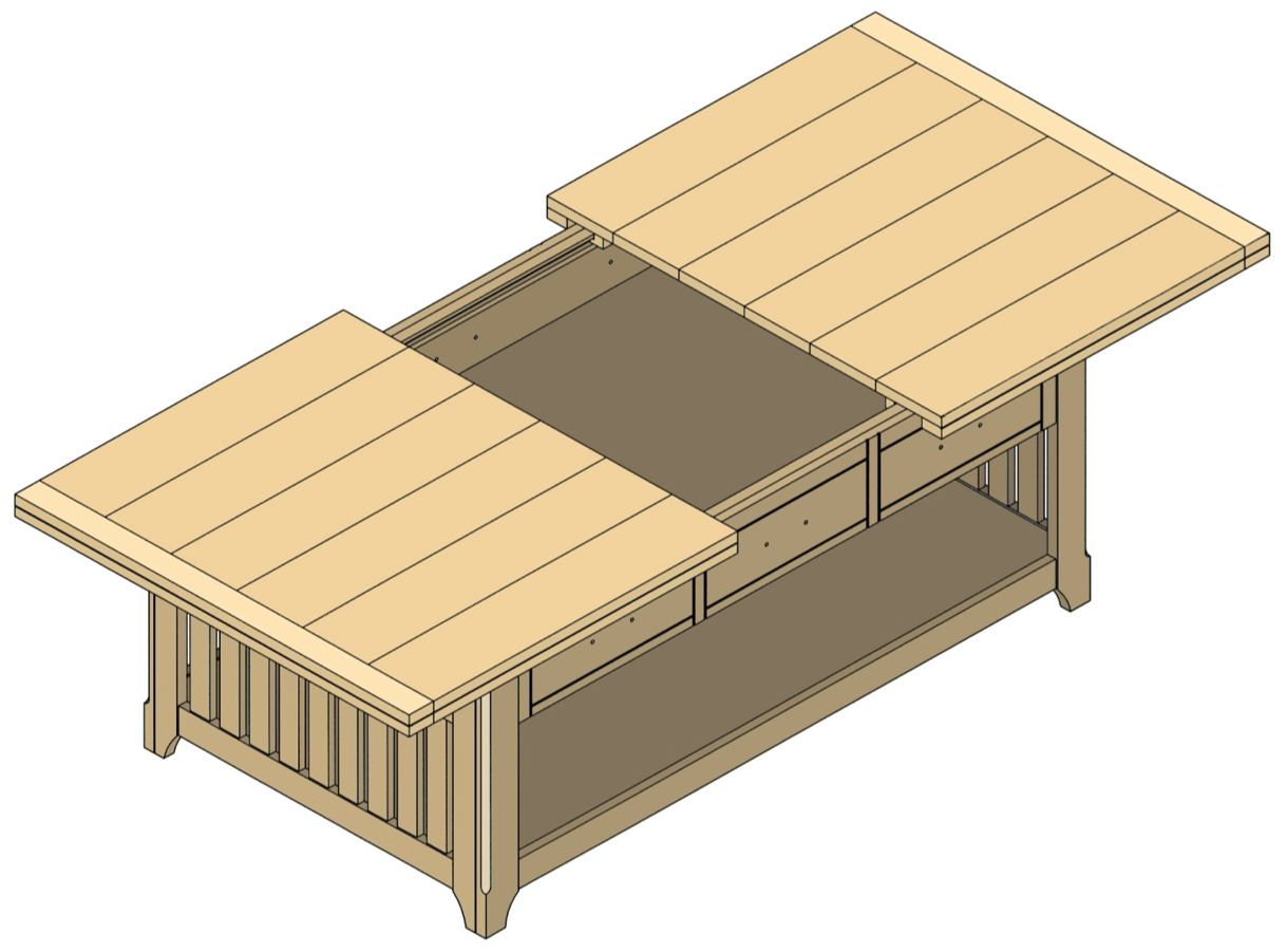 storage coffee table plan