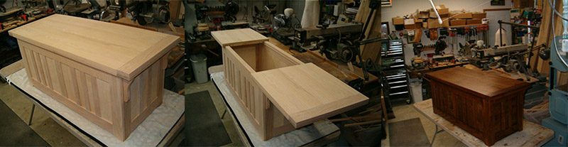 oak hope chest plans