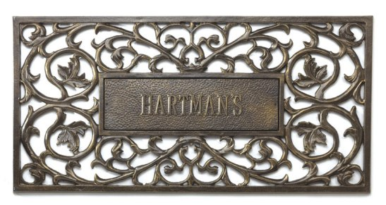 french_bronze_welcome_mat