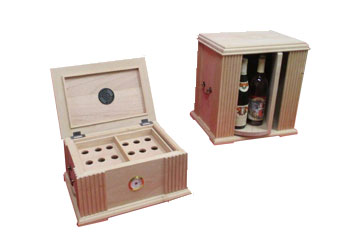 Cigar Humidor and Tabletop Liquor Cabinet