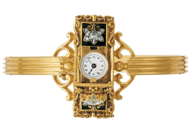 First wrist watch