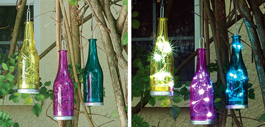 Smart Solar 83006-3 Fiesta Hanging Glass Bottles Product Review