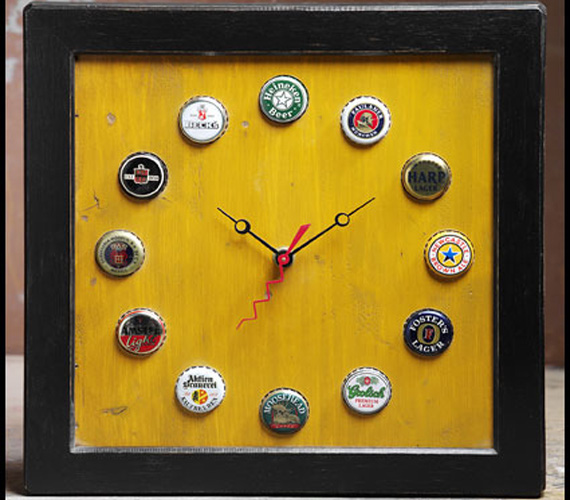 4 diy clock ideas for father s day klockit 39 s blog for Cool beer cap ideas