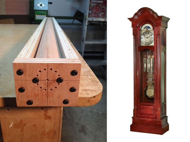 Columbia Grandfather Clock build by Randy Sharp