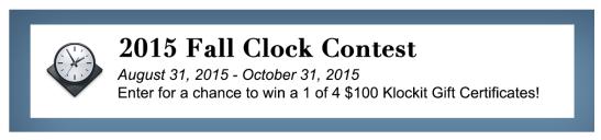 Klockit Clock Contest