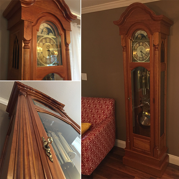 Randy Sharp grandfather clock build