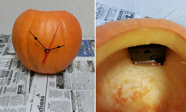 Assembled Pumpkin Clock
