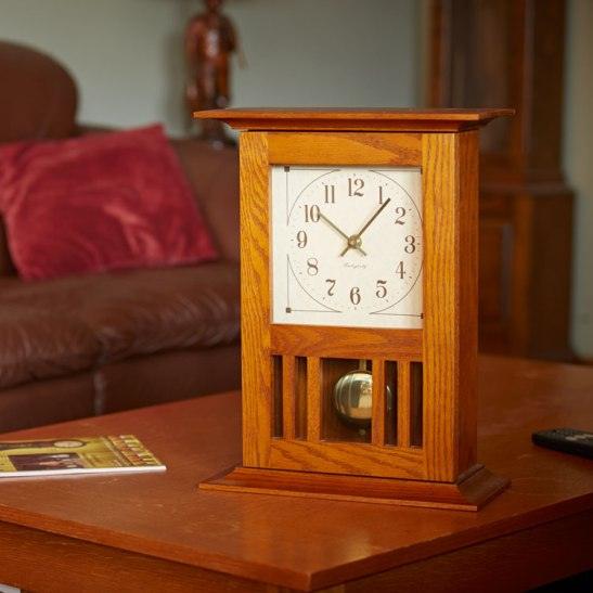 Mission Mantel Clock