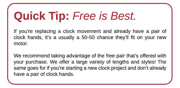 Quick Tip: Free Clock Hands | Klockit