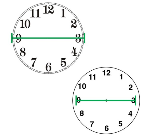 Measuring for clock hand length